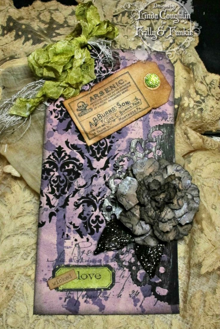The Funkie Junkie: Arsenic and Old Lace with black paste...  http://thefunkiejunkie.blogspot.co.uk/2014/09/arsenic-and-old-lace.html