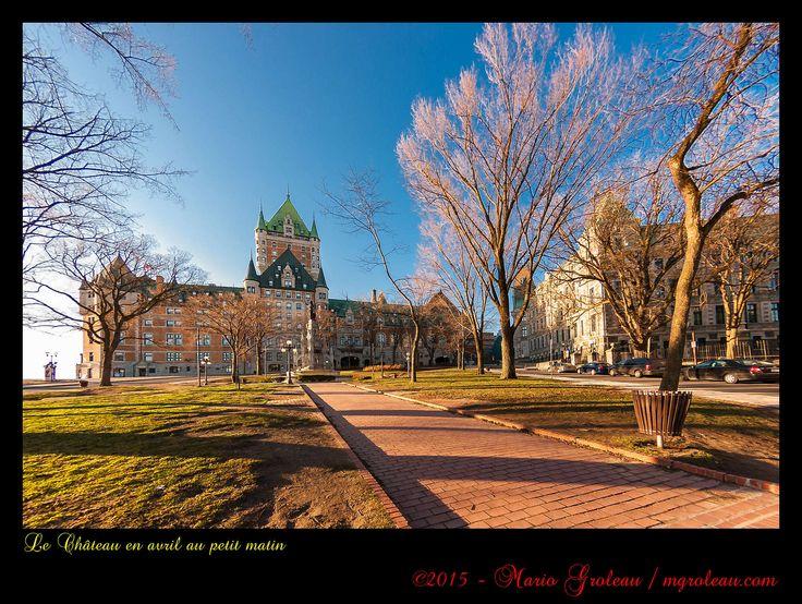 https://flic.kr/p/zGSniw   Le Château en avril au petit matin   Photographier Québec avec des rues vides, c'est possible en avril!