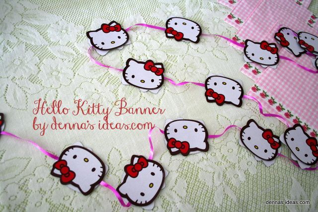 Fast And Easy Diy Hello Kitty Party Banner Easy Diy Party Banners And Kitty Party