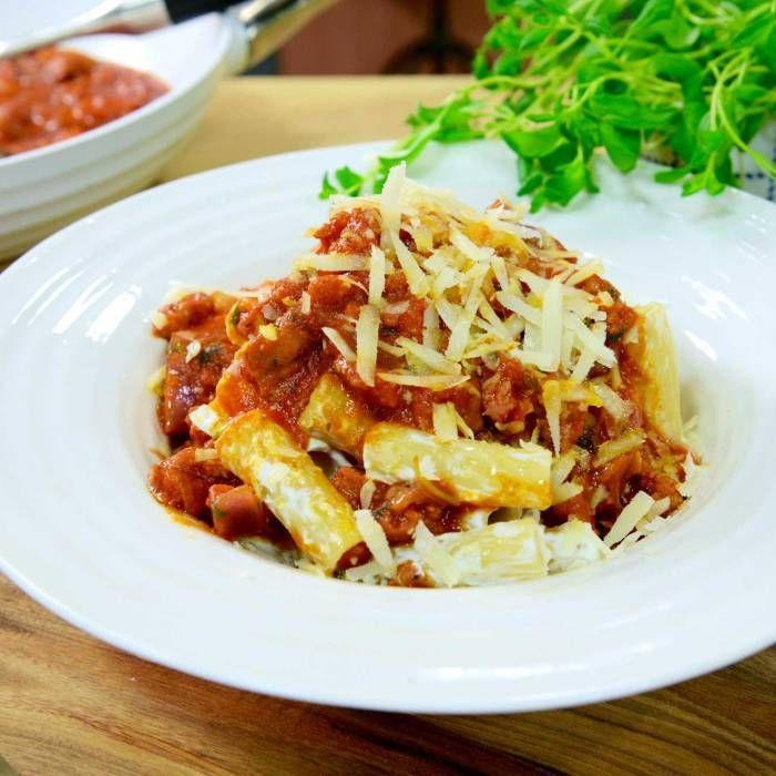Pasta med salsiccia- & ricottasås