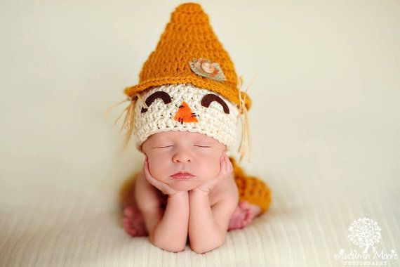 Baby Boy Scarecrow Hat And Pants / Short Set Costume CUTE Fall HALLOWEEN Newborn Baby Boy Crochet knit Scare Crow Hat Shorts on Etsy, $29.99