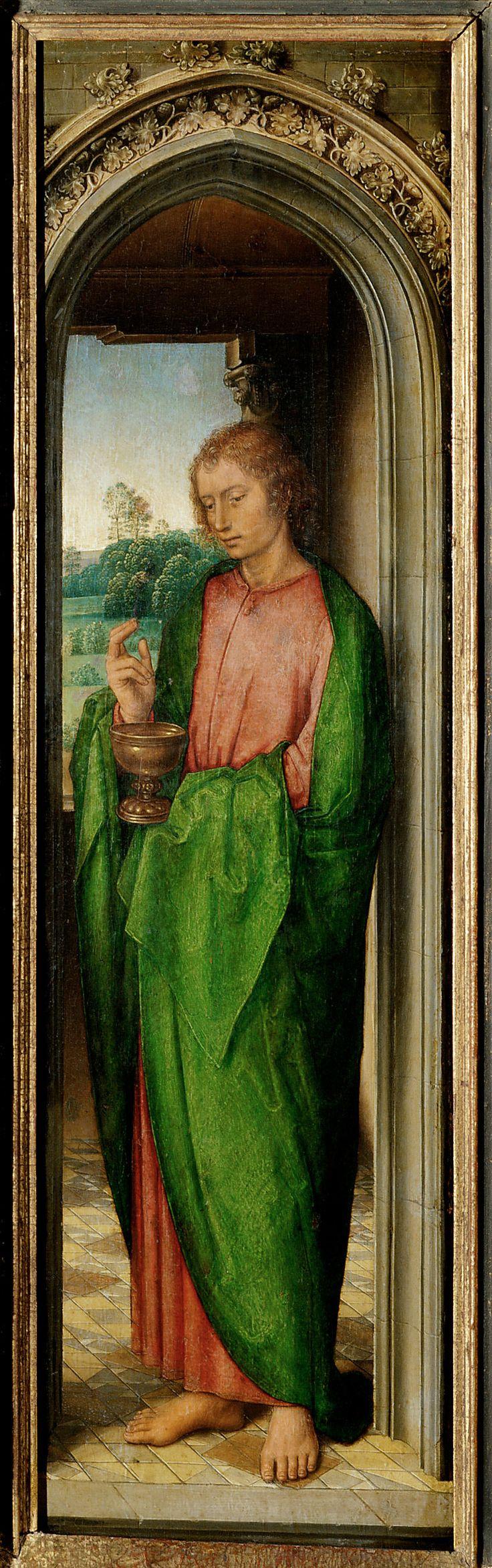 Saint John the Evangelist / San Juan Evangelista // circa 1485-1490 // Hans Memling // Kunsthistorisches Museum, Vienna // #apostle