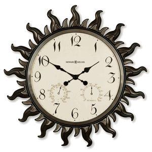 Sunburst Outdoor Wall Clock 22-1/2