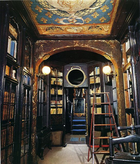 Victor Hugo's library at Guernsey.