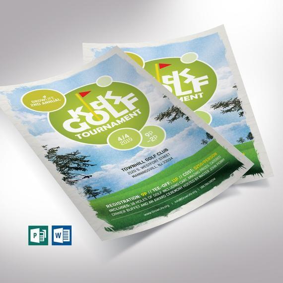 Kids Golf Tournament Flyer Word Publisher Template Publishertemplate Flyerword Golftournament Halfpage Chari Golf Tournament Publisher Templates Kids Golf