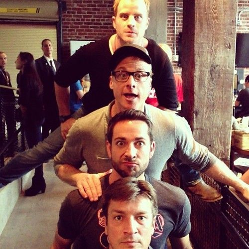 Robert Kazinsky, Alan Tudyk, Zachary Levi and Nathan Fillion at Nerd HQ 2013  #iwantmynerdhq