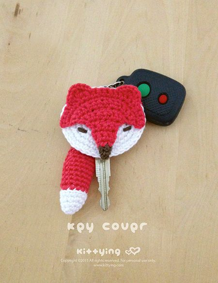 Fox Key Cover Crochet Pattern be Foxy with Fox Crochet Accessories Kittying Crochet Pattern by kittying.com from mulu.us This crochet pattern makes 6cm x 5.5cm end product. Adjust size by changing hook and yarn size.