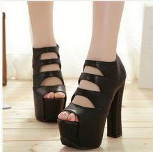 14 cm ultra high heels peep toe sexy tacchi spessi scarpe bocca superficiale della piattaforma 2015 primavera ascensore shoes size 34-39 4-269  (China (Mainland))