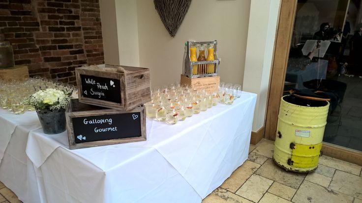 Our Drink's Reception display @GGWeddings