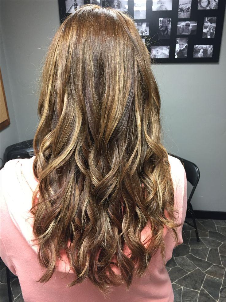 Hair painting, highlights, long hair