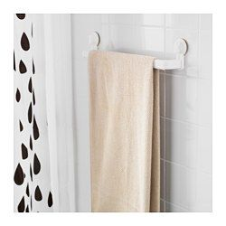 IKEA - STUGVIK, Towel rack with suction cup, , Includes suction cups that grip smooth surfaces such as glass, mirrors and tiles.You can adjust the towel rack to your needs as it is extendable.