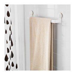 IKEA - STUGVIK, Handtuchhalter mit Saugnapf, , Mit Saugnapf, der auf glatten Oberflächen wie Glas, Spiegeln und Kacheln haftet.In der Breite verstellbar, lässt sich dem Bedarf anpassen.