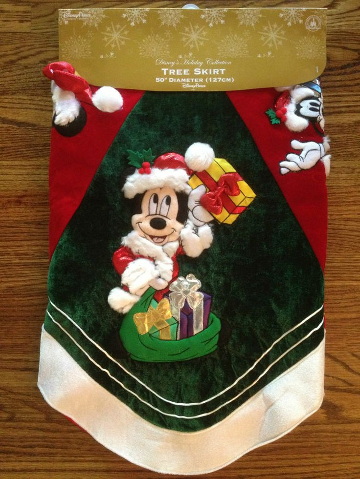 Disney Parks Mickey Mouse Christmas Tree Skirt $110