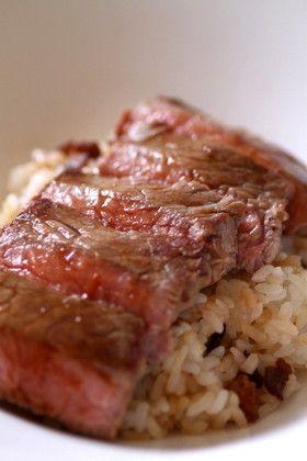 ステーキ丼 by Bluebird [クックパッド] 簡単おいしいみんなのレシピが ...