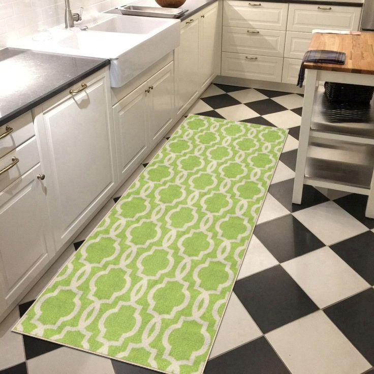 Amazing Lime Green Kitchen Rug