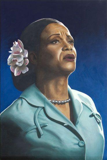 Ruth Jacott as Billie Holiday Oil on Canvas, ca. 40 x 60 cm. www.realistischekunst.com