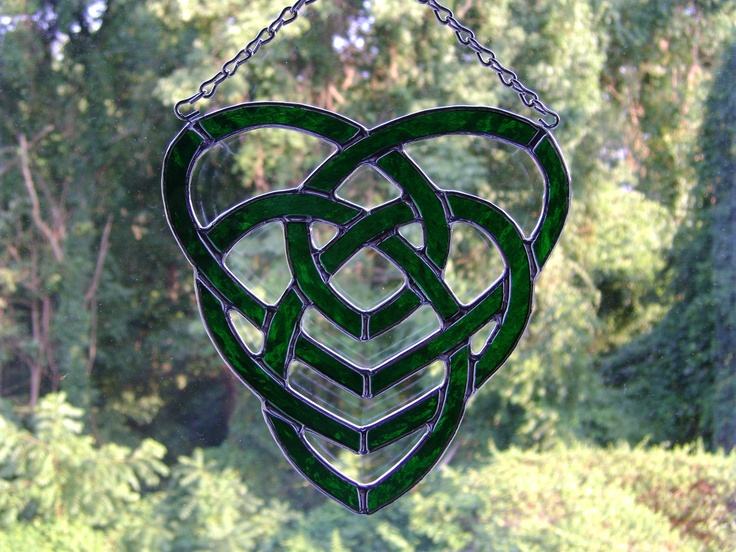 Celtic Motherhood Knot Stained Glass. $50.00, via Etsy.