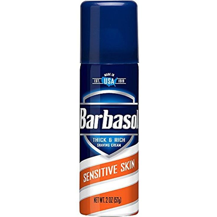 Barbasol Mens Shaving Cream Sensitive Skin Thick & Rich Aloe 2 OZ Travel Size  #Barbasol