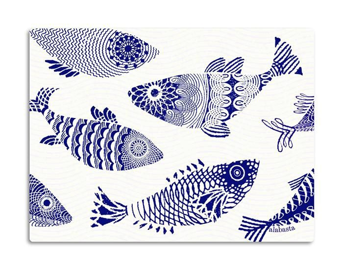 Blue fish by Alabasta | Asta Barrington / Alabasta | Collections | Åry Trays