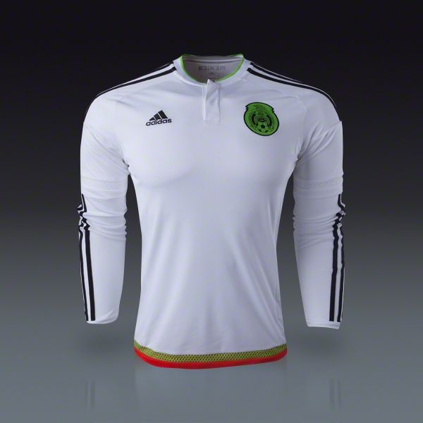 adidas Mexico Long Sleeve Away Jersey 2015 | SOCCER.COM | What to ...