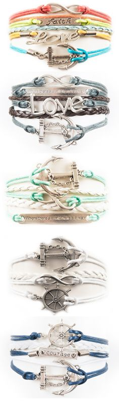 Anchor bracelets - tons of colors and styles to choose from!