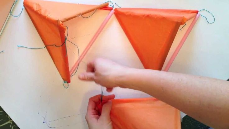 How to make a Tetrahedral Kite using straws, string, and tissue paper - Mr. Otter Art Studio  The best flying kite yet! Stay in during bad weather and prepare for BETTER!   The tetrahedral Kite is made out of straws, string, tissue paper and scotch tape.