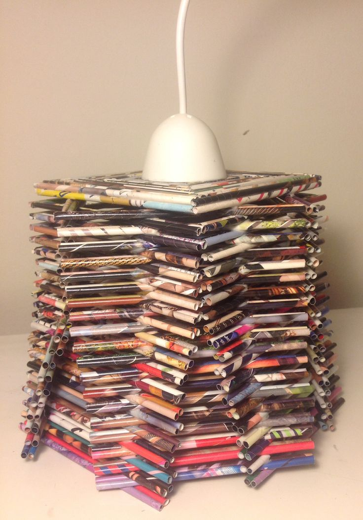 how to make a basket out of magazines