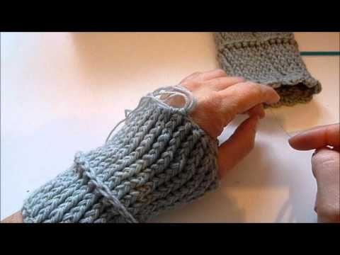 Pulswärmer Häkeln Handschuhe Crocket Handstulpen Youtube