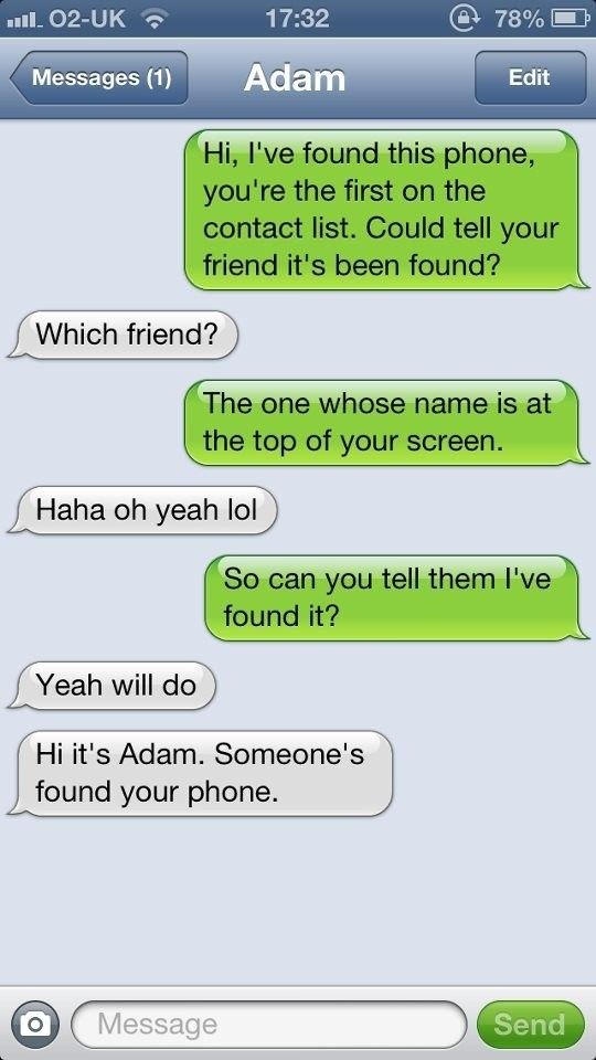 Identifying Idiots: One Lost Phone at a Time