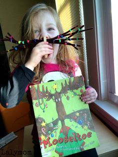 3 FUN Mooseltoe Christmas Moosestache Activities for Kids on http://Lalymom.com - Click to see all three! What a fun Christmas book activity!