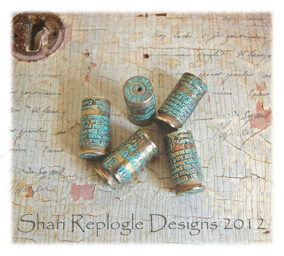 5 Wonderful Etched Bullet Findings for by staffordshiregarden, $12.95