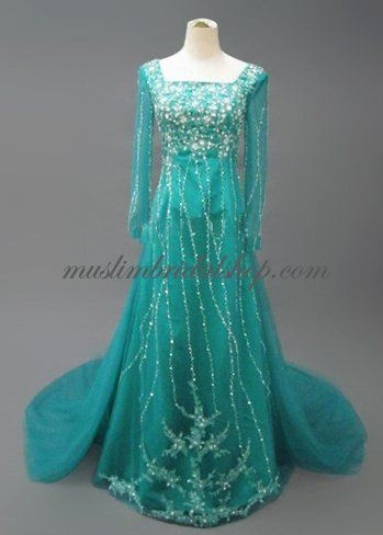 evening gown... Um... Totally looks like Elsa's dress so now I need it...
