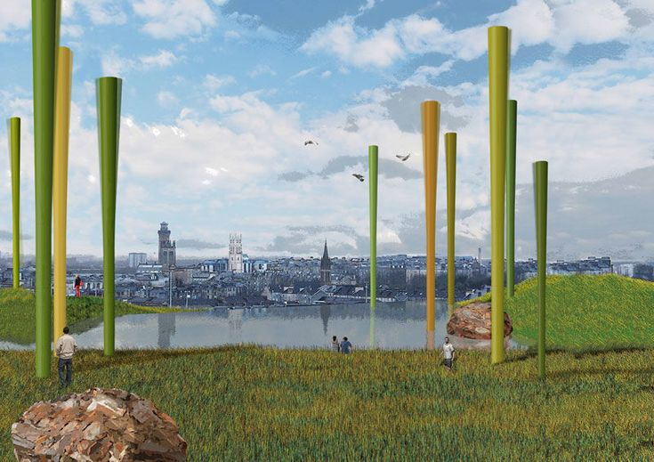 Arboreal Wind Turbines - 'Wind Forest' Creates Green Energy in Style (GALLERY)