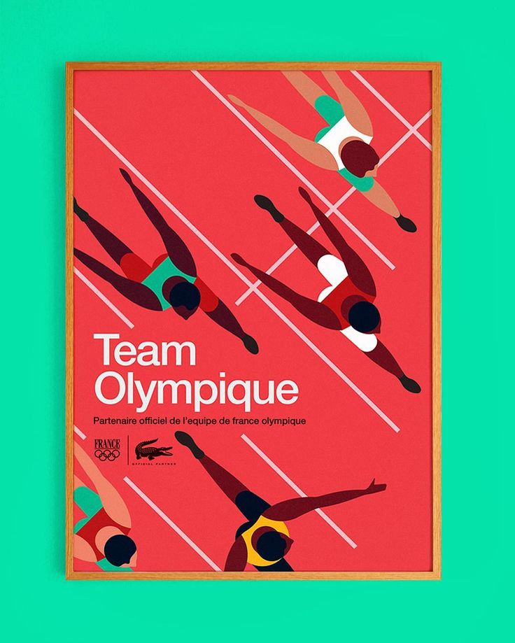 Runners. Team Olympique poster 3 #poster #graphic #design #mikelemanski