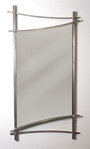 Asian Wall Mirror: Julie Girardini, Ken Girardini: Metal Mirror | Artful Home