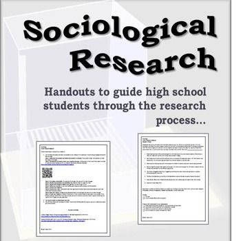 Sociology research paper steps high school