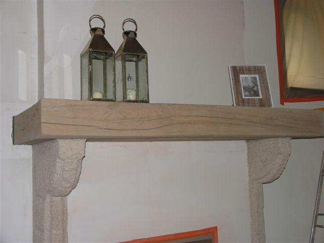 houten balk laten zandstralen of logen. Modern effect ...