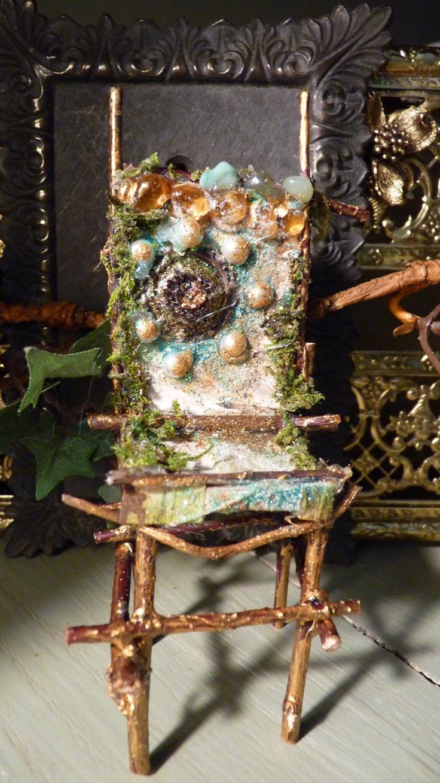 fairy twig chair,princess pearl. $25.00, via Etsy. cute for indoor garden
