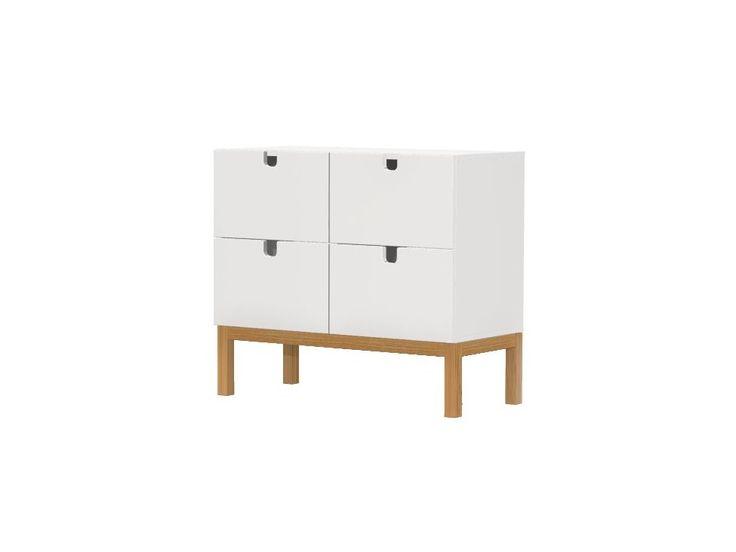 Komoda Kubus II — Komody Tenzo — sfmeble.pl  #scandinavian  #style  #interior  #homedesign #furniture #white