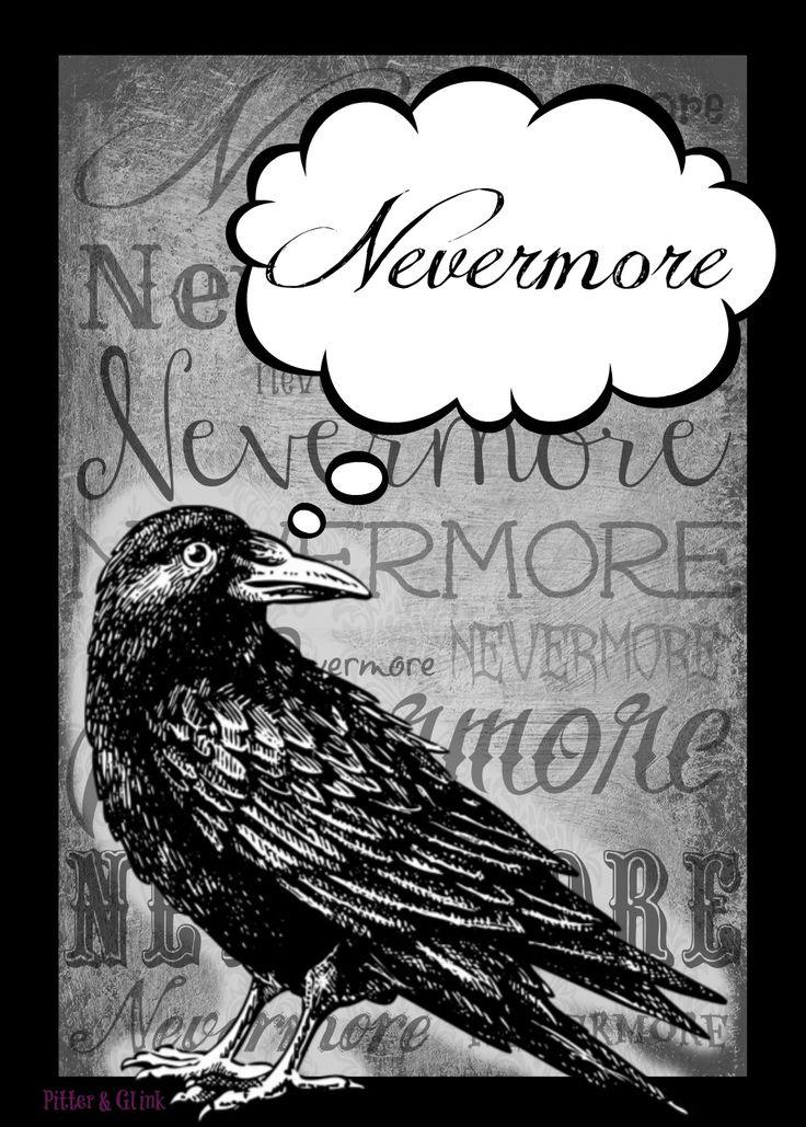 Mejores 14 imgenes de 2013 mayo novedades rincn del lector en free halloween printable nevermore the raven by edgar allan poe from fandeluxe Gallery
