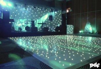 WHITE P LIGHT LED STAR LIT for hire - Party Dance Floors