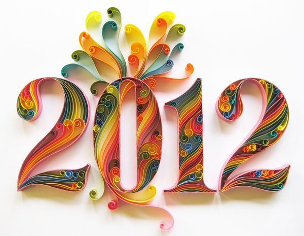 i love this its beautiful: Paper Quilling, Adonai Karnik, Color, Happy New Year, Paper Art, 2012, Paper Sculpture, Paper Crafts, New Years