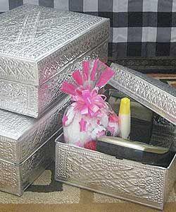 Aluminum Handicrafts - Trunk set of 3