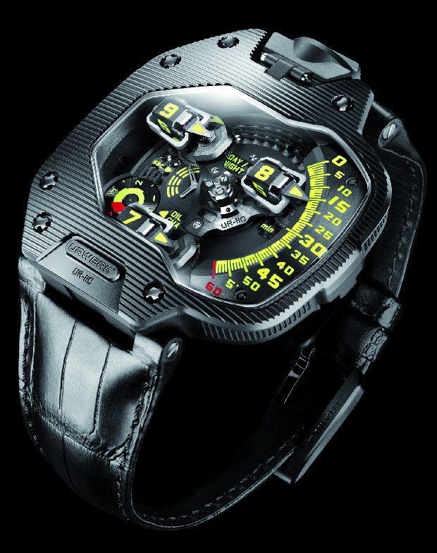 Urwerk UR-110 ST.  I am always impressed with the futuristic, creative design of Urwerk timepieces.