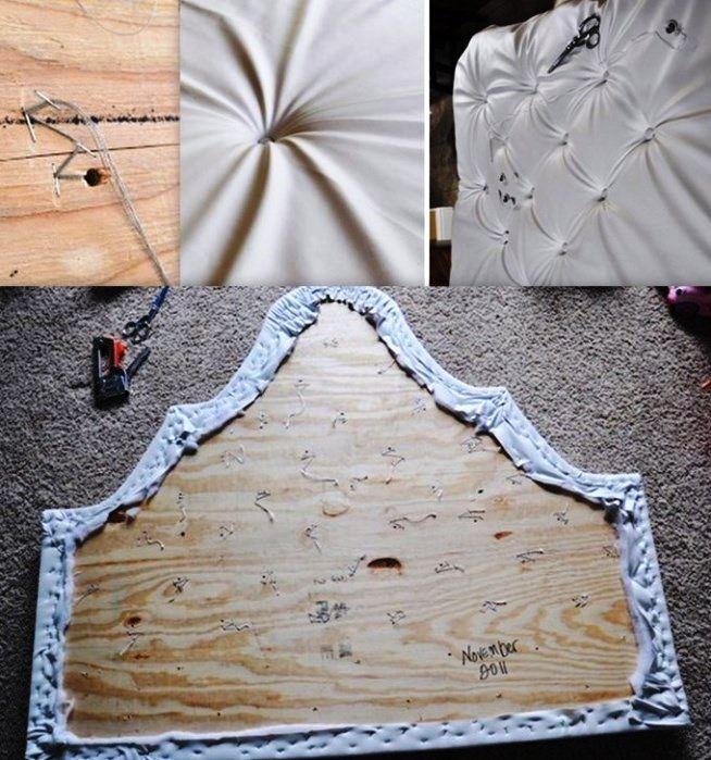 Как изготовить стильное изголовье для кровати