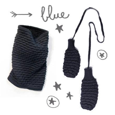 7/24 only today | BLUE turtle-neck scarf+mittens | specialprice #sartoriavico #xmas #designtowear #gift #winter www.sartoriavico.it