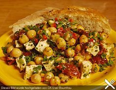 Kichererbsensalat mit getrockneten Tomaten und Feta (Rezept mit Bild)   Chefkoch.de
