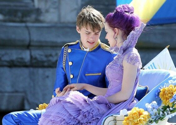 Ben and Mal. Belle and Beast's son and Maleficent's daughter. Pics from Disneys Descendants.