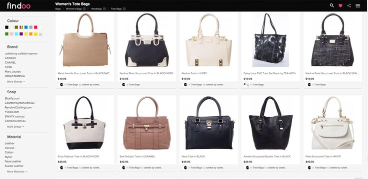 Tote Bags - Women can't resist. Big selection of Hand -and Shoulder Bags. Find your favorite Bag with Findoo Australia.  More details: https://www.findoo.com.au/bags/handbags/tote-bags/