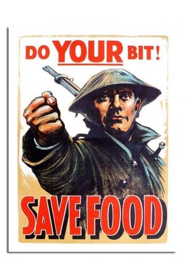 Do Your Bit Save Food War Print £7.99